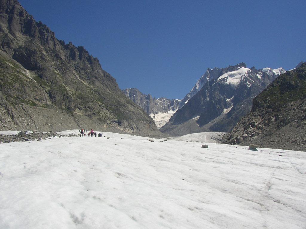 Sortie sur glacier en Haute-Savoie