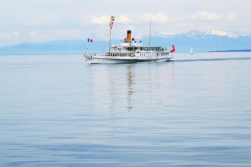 sortie en famille en Haute-Savoie bateau Belle époque
