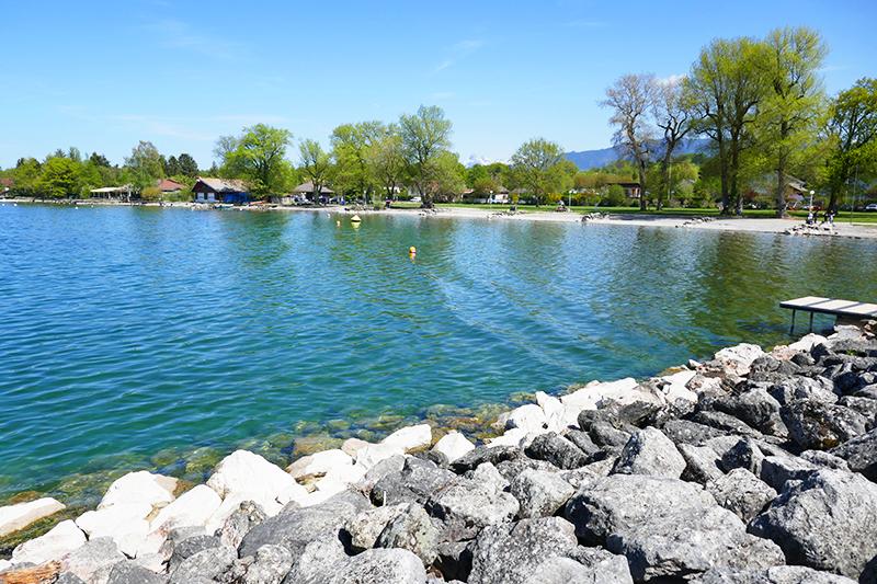 belle plage du lac leman Sciez