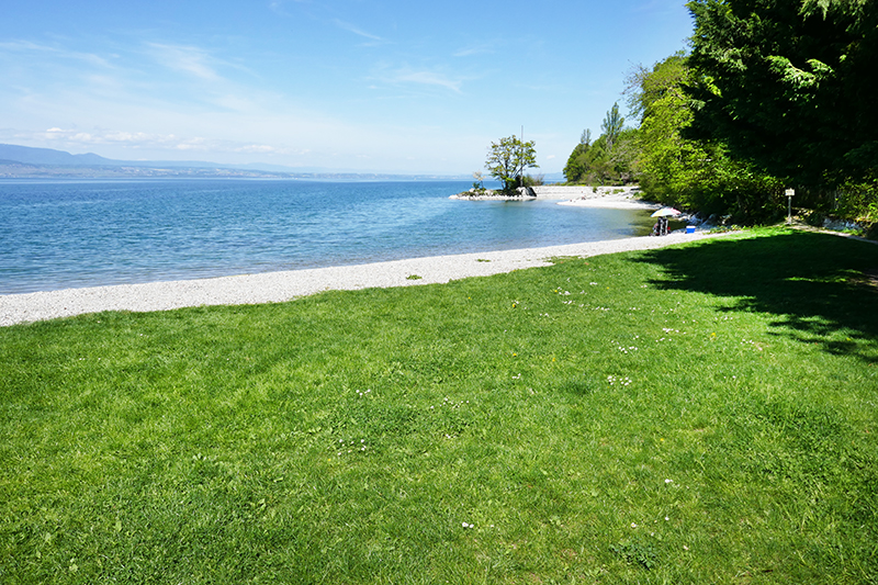 belles plages lac léman Sechex