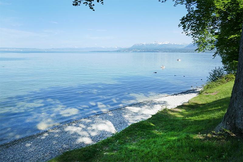 belle plage lac léman Yvoire
