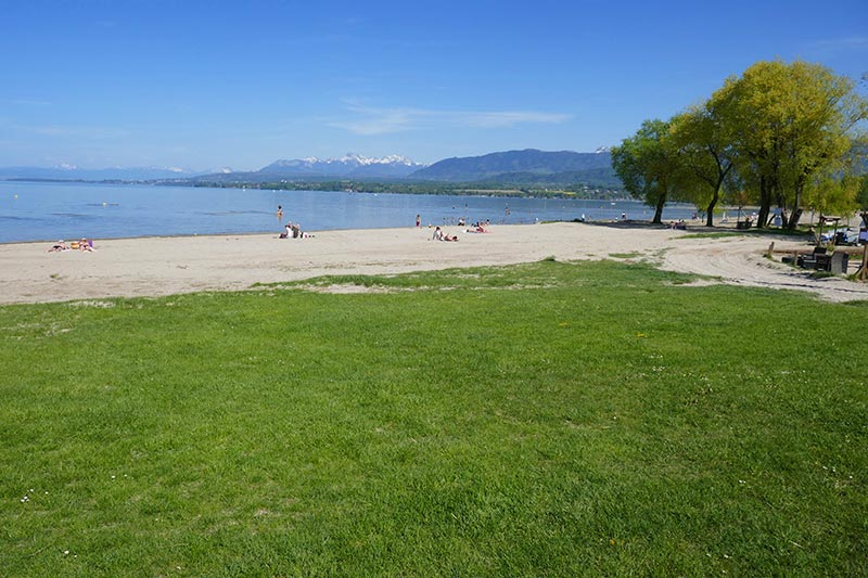 belle plage du lac Léman excenevex