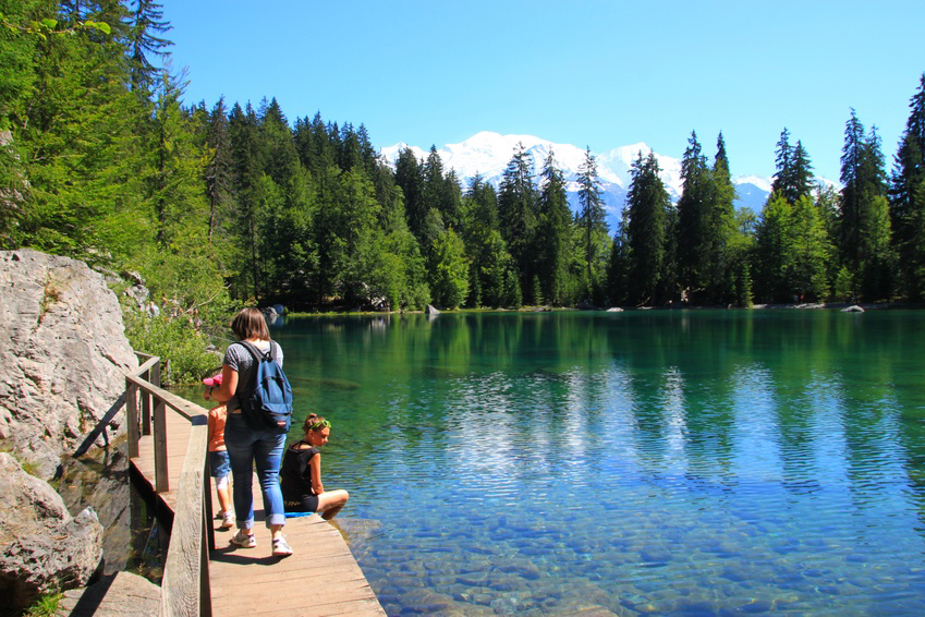 lac vert passy balade mont-blanc