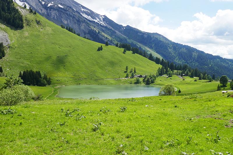 balade haute-savoie la clusaz lac des confins