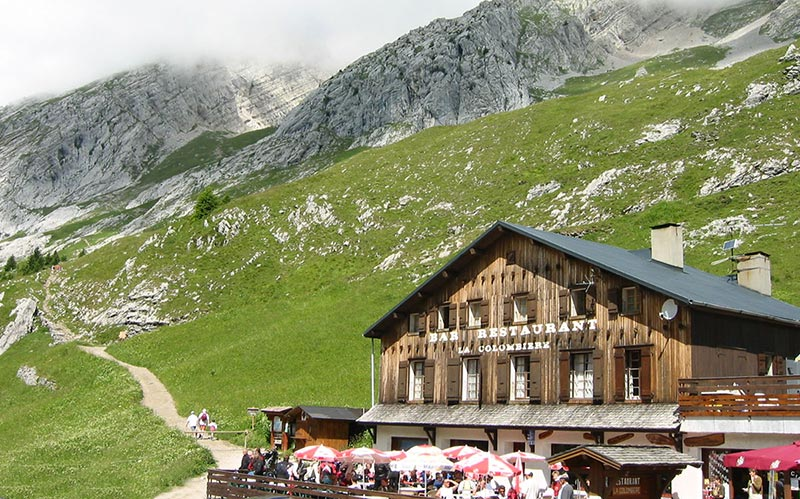 départ de la balade pour le lac de Peyre Haute-Savoie