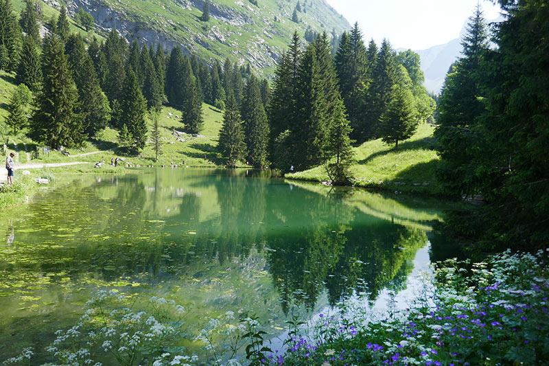balade haute-savoie abondance lac des fontaines