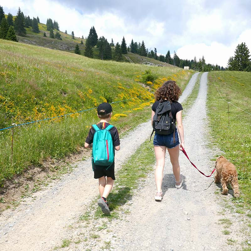 les gets promenade en famille mont chery mont caly