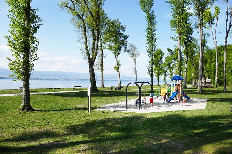 belle plage du lac Léman margencel tougues chens sur leman