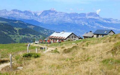 Contamines-Montjoie: randonnée des chalets du Truc aux chalets de Miage
