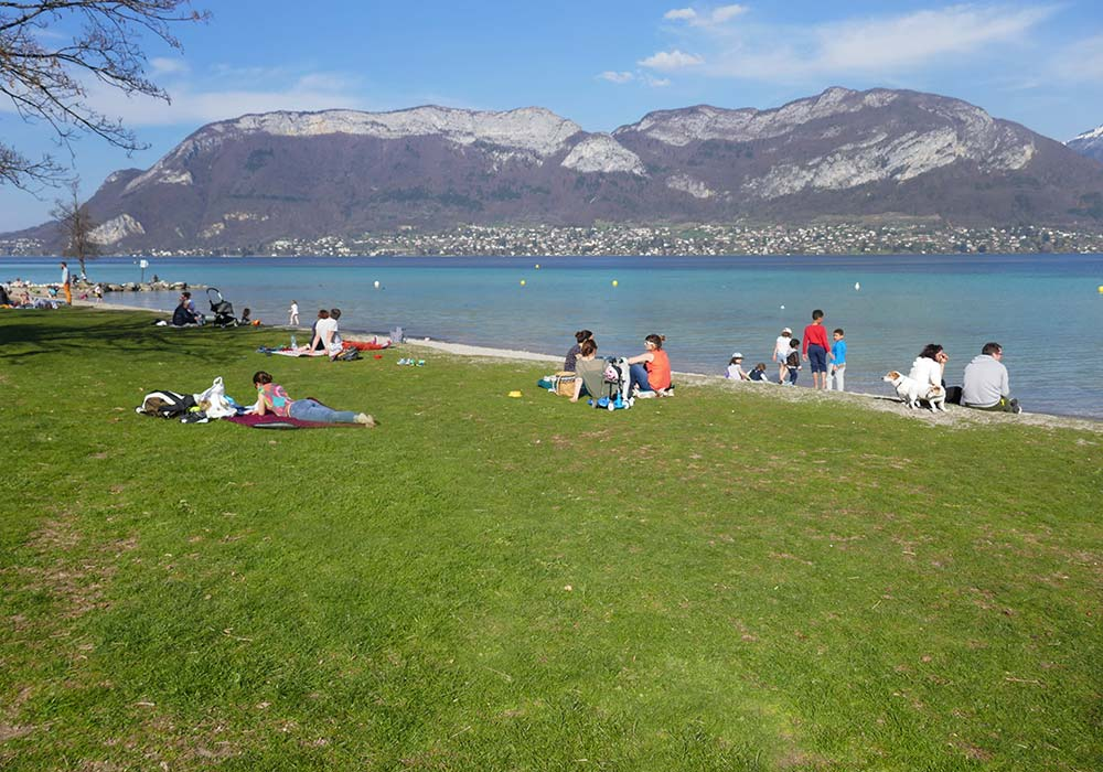 top plages lac d'annecy - sevrier