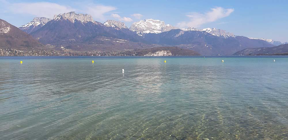 top plages lac d'annecy